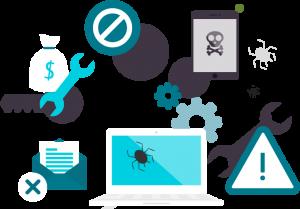 protección contra virus y troyanos